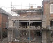 Large house extension, New Malden